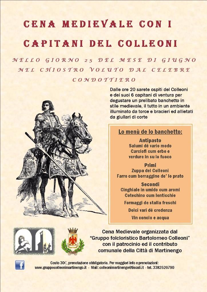 Cena Medievale con i capitani del Colleoni