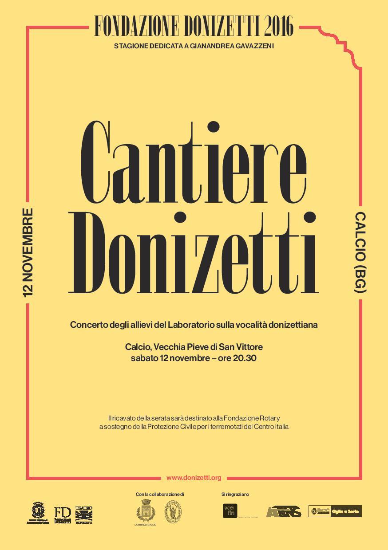 """Cacio, concerto lirico """"Cantiere Donizetti"""""""