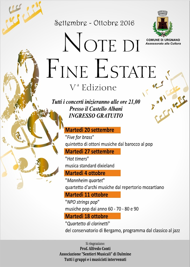 Programma Note di Fine Estate