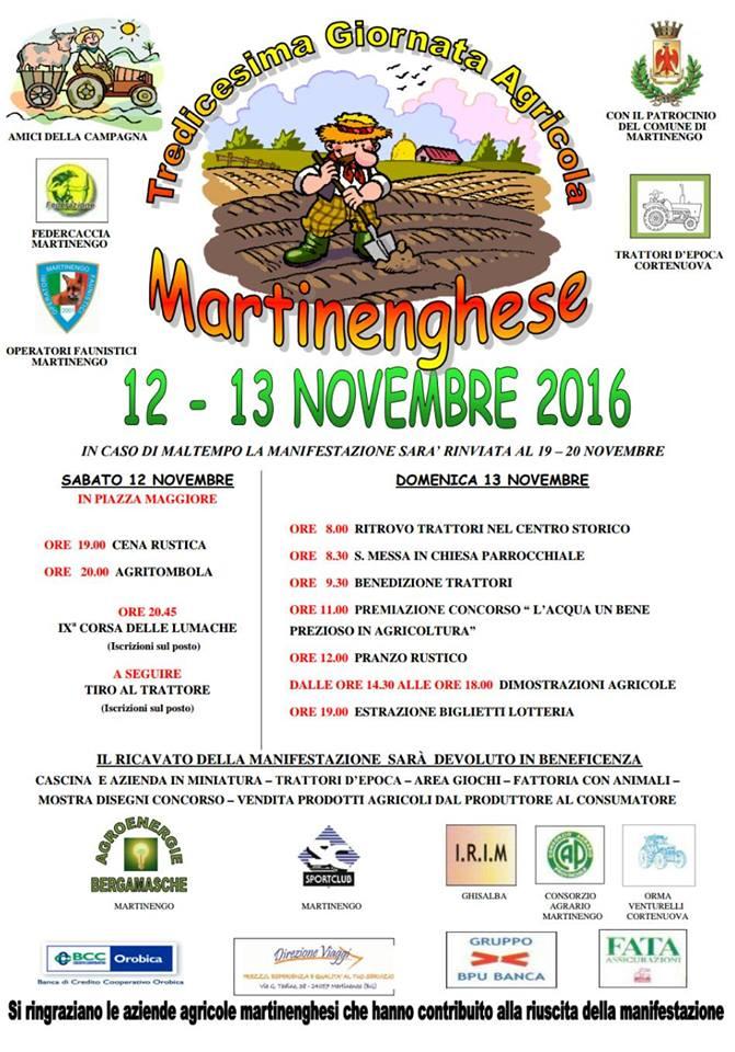 Martinengo, Tredicesima giornata agricola martinenghese