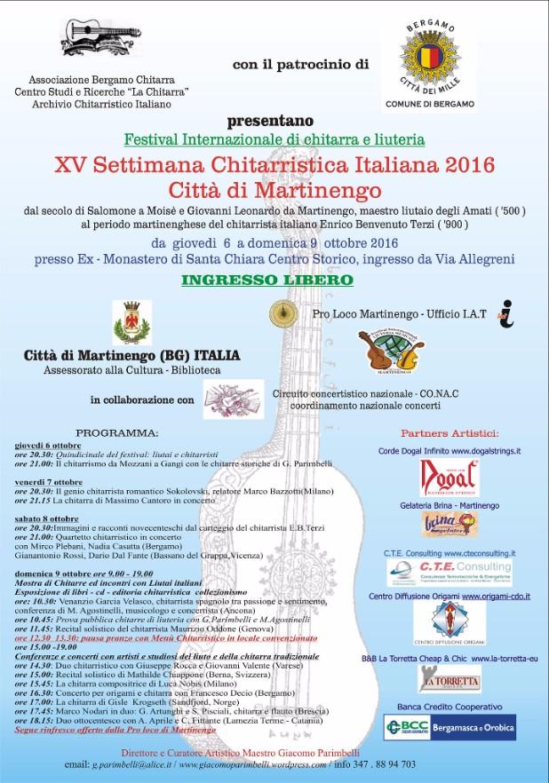 Martinengo, XV settimana chitarristica
