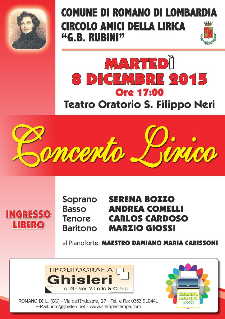 Romano, concerto lirico
