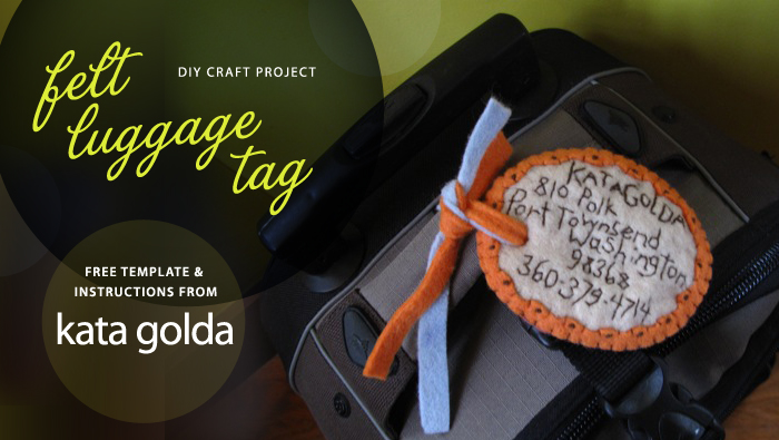 DIY Felt Luggage Tag Tutorial, by Kata Golda