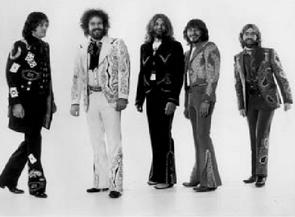 Spencer Dryden, David Nelson, Skip Battin, Buddy Cage, John Dawson. 1975 Oh, What a Mighty Time photo shoot.
