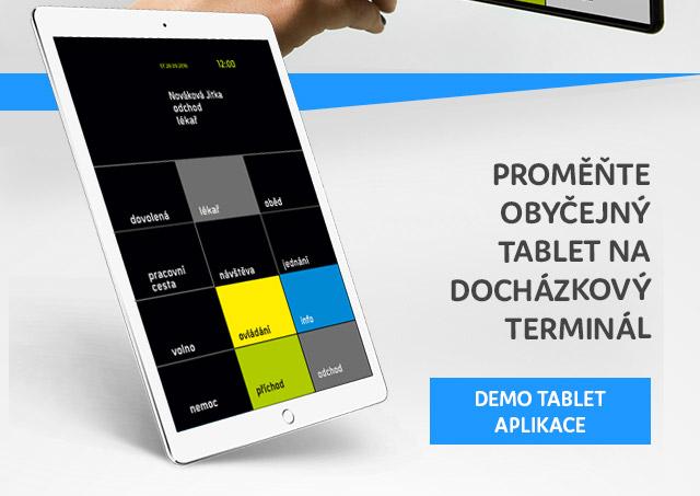 Proměňte obyčejný tablet nadocházkový terminál