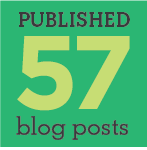 published 57 blog posts
