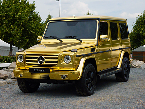 Gold Plated Mercedes