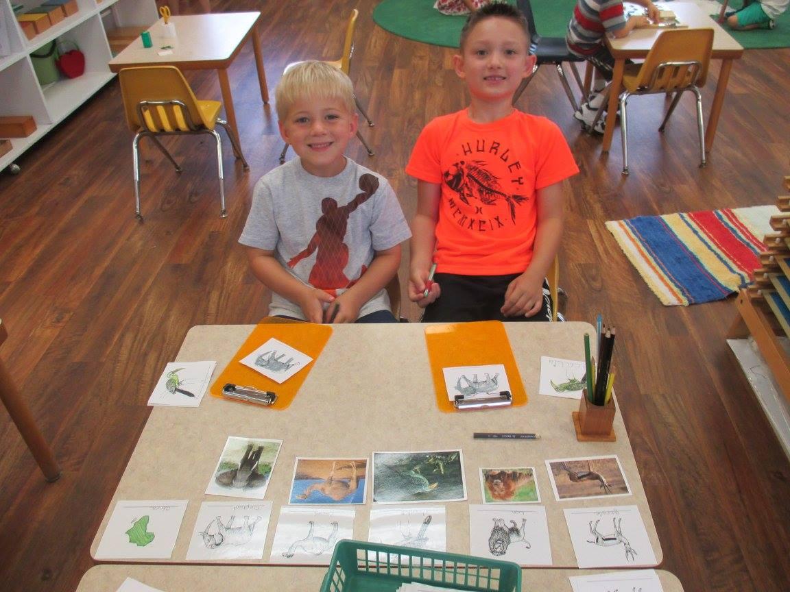 We love our Montessori work.