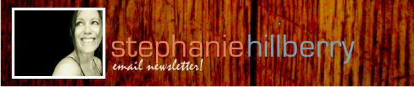 image: stephanie hillberry's email newsletter header