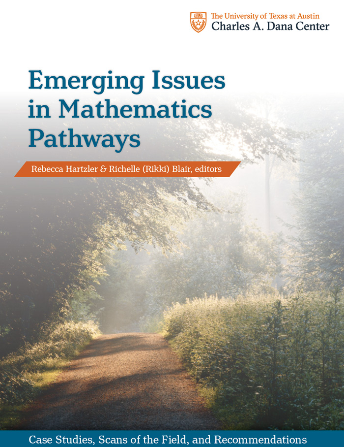 Cover image from the Emerging Issues in Mathematics Pathways monograph