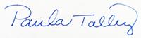 Paula Talley signature