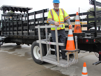 Cone Placement Platform for TMA Trucks