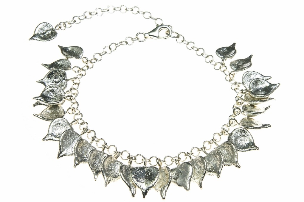 Million Heart Leaf Bracelet in Fine Silver