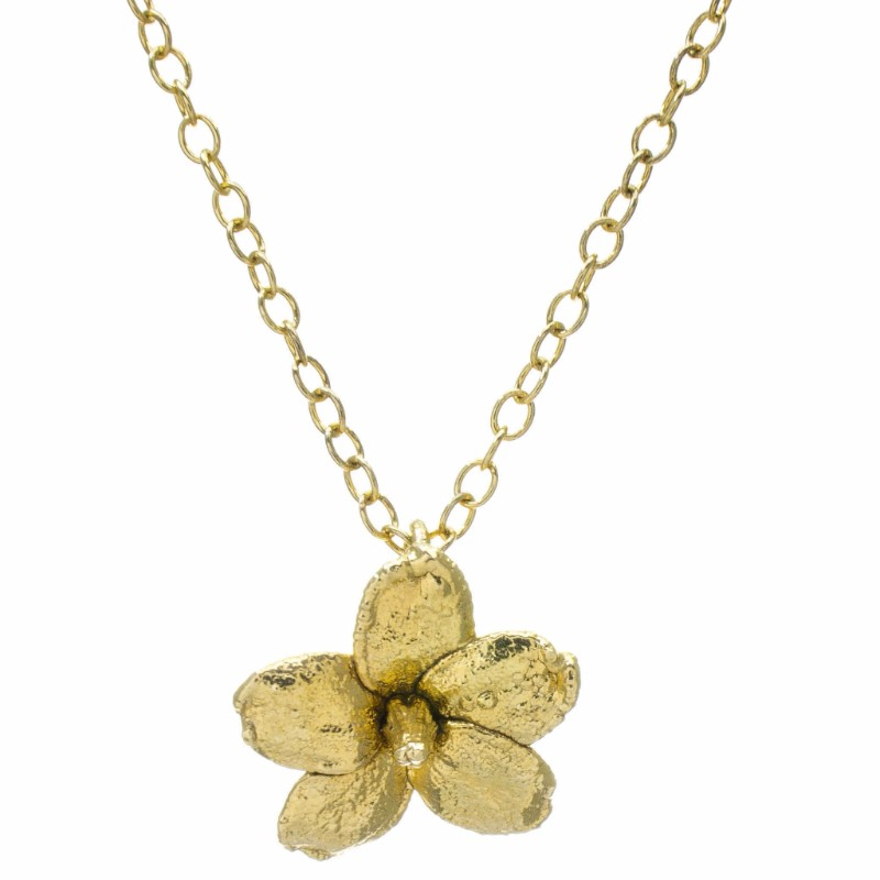 Miniature Gold Water Jasmine Pendant