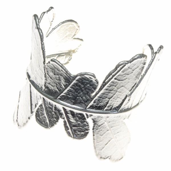 Teak Leaf Cuff Bracelet