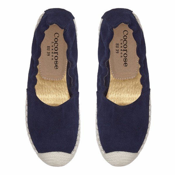 Strand Navy Suede
