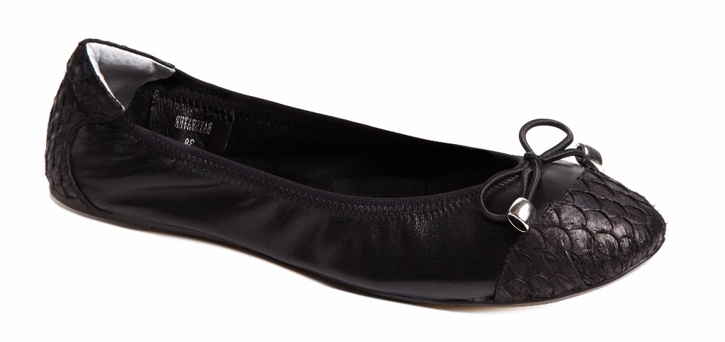 Cocorose London's Classic Bayswater Foldable Ballerinas in Black