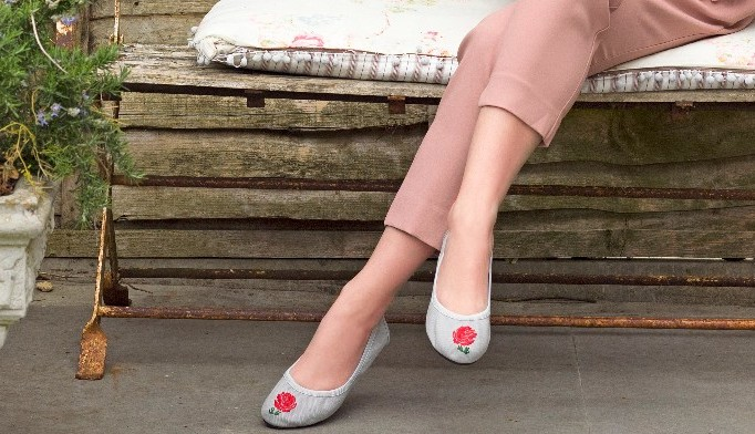 Barbican Grey Canvas with Rose
