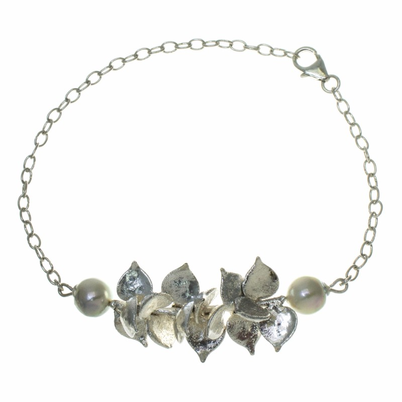 Million Heart Leaf and  Pearl Bracelet
