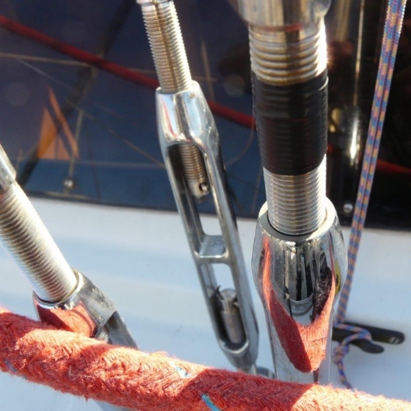 PVC tape can be used to mark rig tension