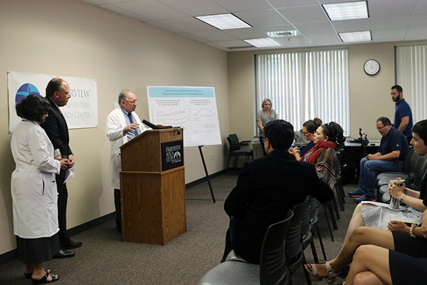Fred Rivara, M.D., MPH, speaks at a press conference announcing the formation of the Firearm Injury & Policy Research Program.