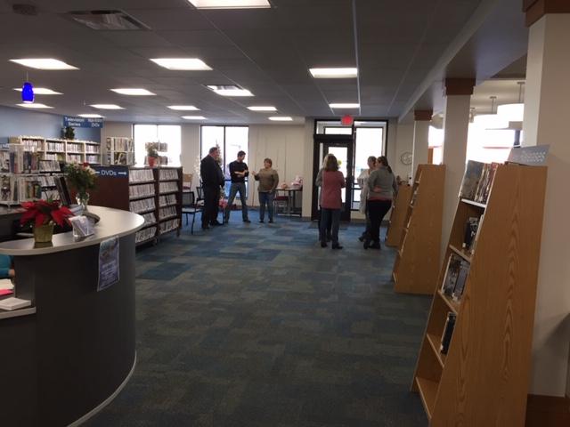 People in Milltown Public Library