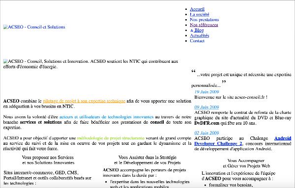 site ACSEO 2009