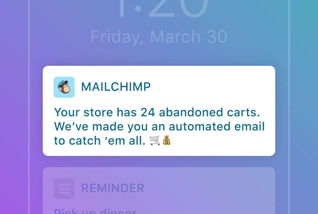 Abandon Carts in mobile