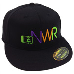 Initials Hat in Black-Tri Color - Northwest Riders Clothing