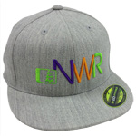 Initials Hat in Grey-Tri Color - Northwest Riders Clothing