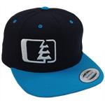 Snap Hat in Black-White-Teal - Northwest Riders Clothing