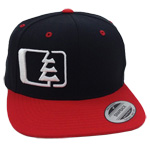 Snap Hat in Black-White-Red - Northwest Riders Clothing