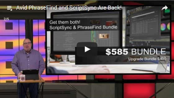 webinar avid phrasefind and scriptsync