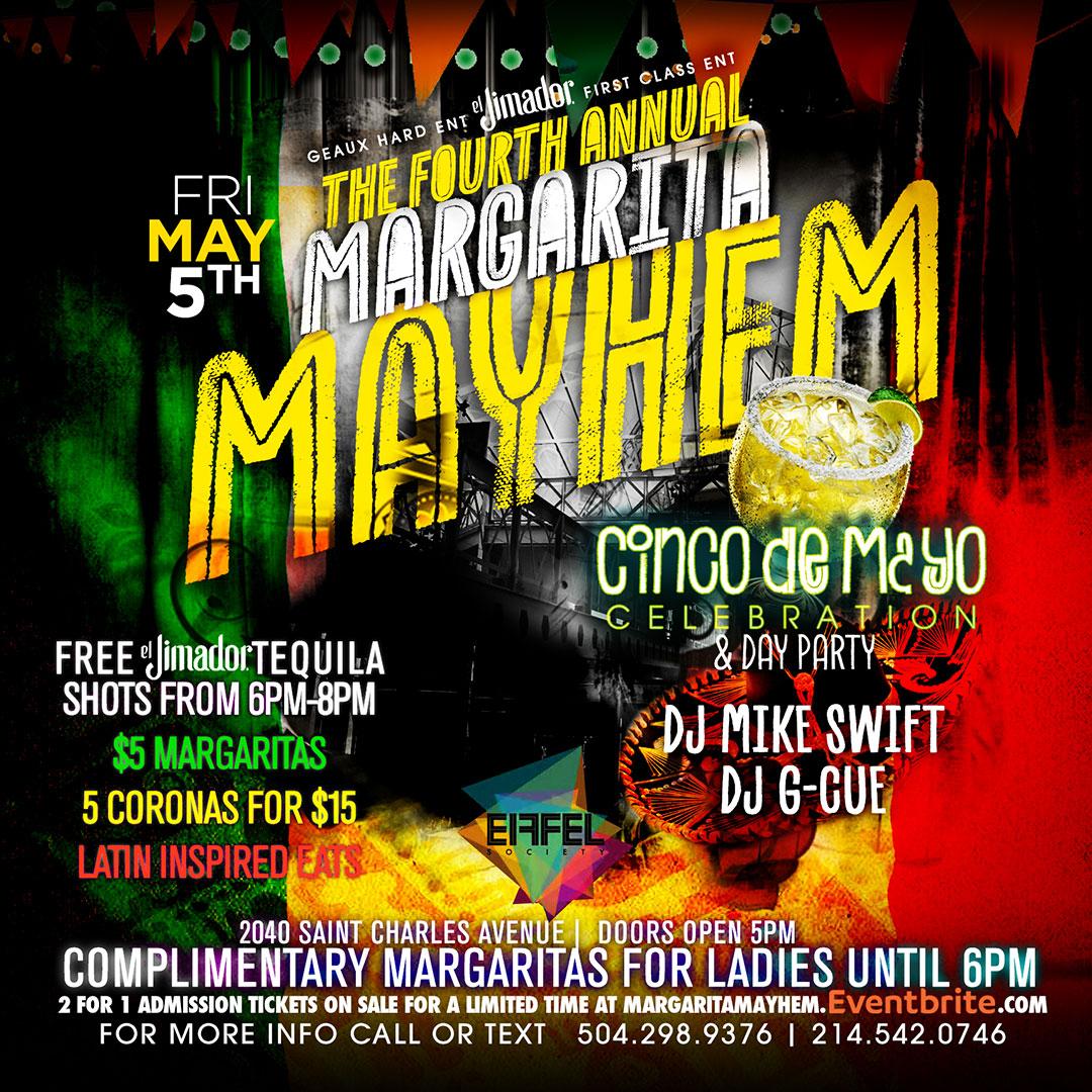 Hightlights from last year's Margarita Mayhem Cinco de Mayo Celebration & Day Party at EIFFEL Society