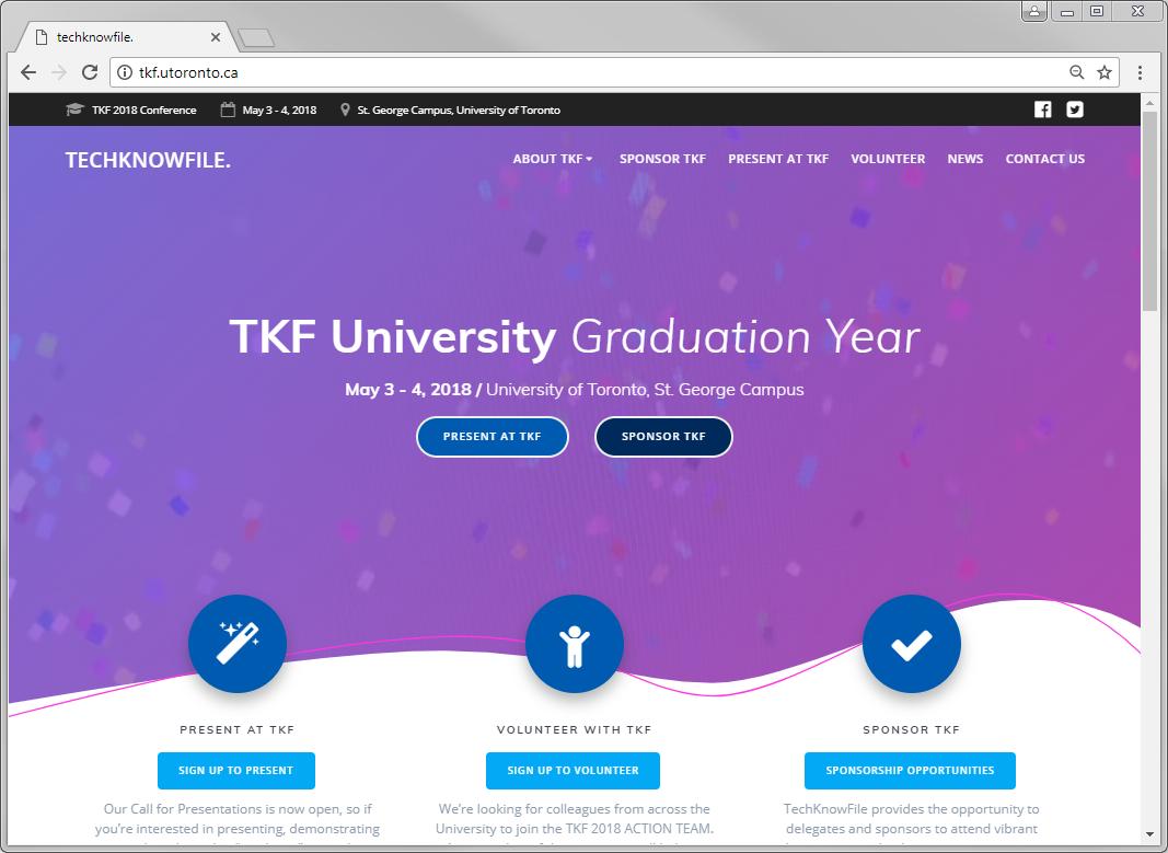 TKF University - Graduation Year - Website