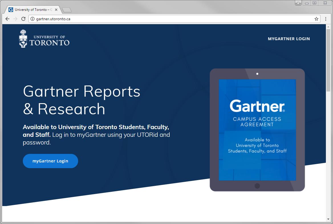 U of T Gartner Website