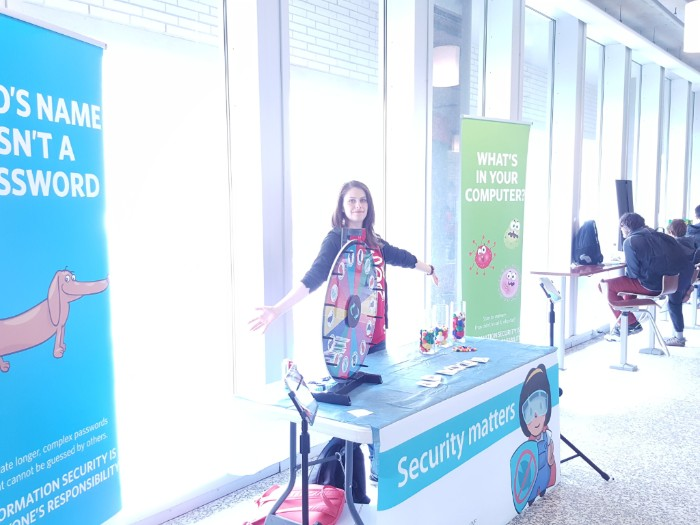 Photo of ITS education and awareness booth at Science Rendezvous