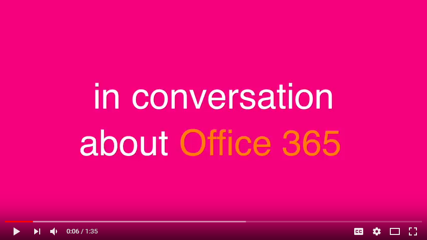 in conversation about Office 365 video