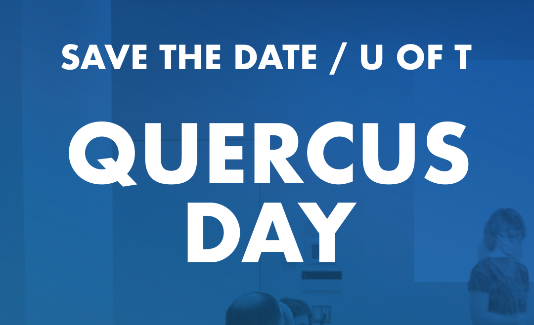 Save the Date - U of T Quercus Day