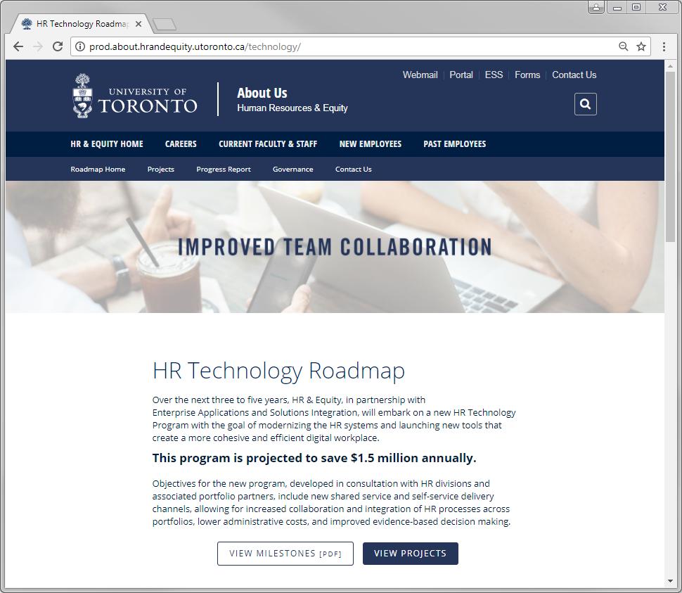 HR Technology Roadmap Website