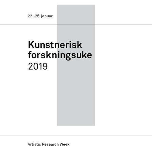 Artistic Research Week 2019