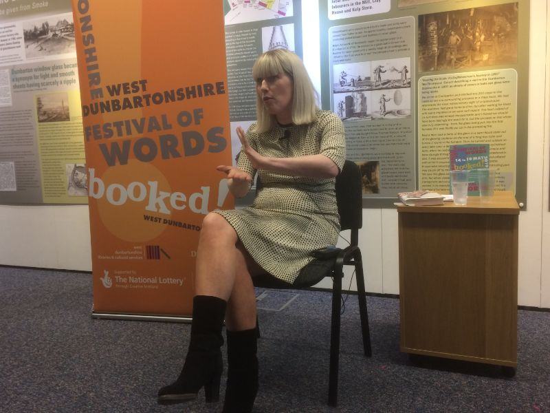 Wendy Erskine at Dumbarton Library