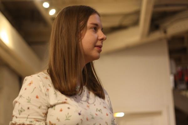 Mairi Davidson in rehearsals