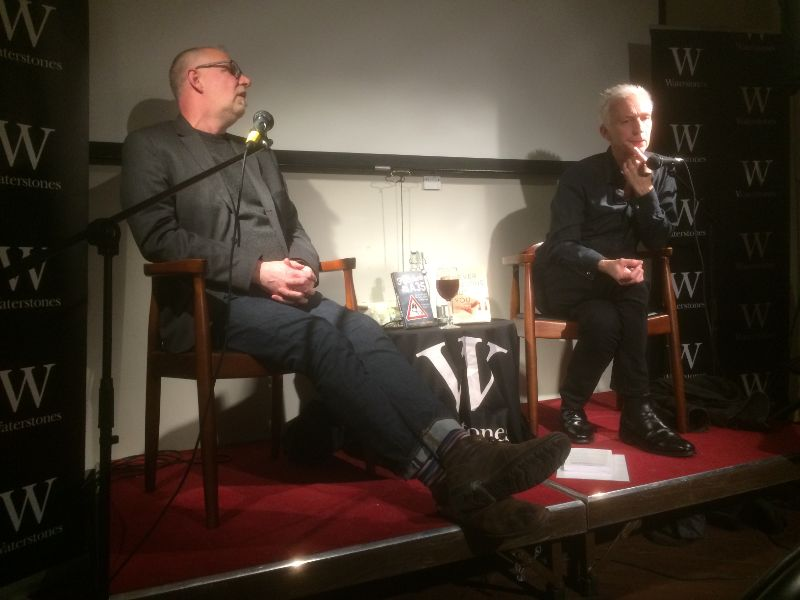 Graeme Macrae Burnet and Rupert Thomson at Waterstones