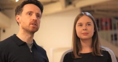 Gregory Bonnar and Mairi Davidson rehearsing Pigeon by Rachelle Atalla
