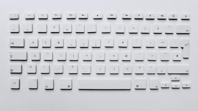 A white keyboard