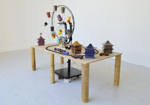 Found objects on a table