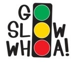 "Graphic: A stoplight, with the words ""Go"" ""Slow"" and ""Whoa!"" using the lights as the letter O in each."