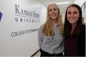 Dr. Kate KuKanich and Emma Winkley of Kansas State University