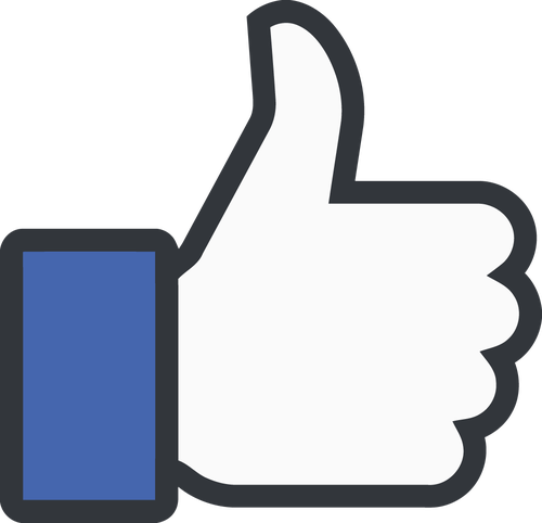 image: the facebook thumbs up